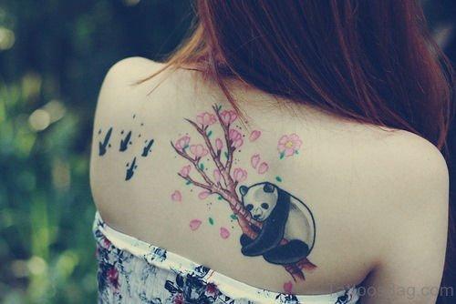 Panda Tattoo On Back
