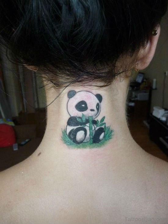 Panda Tattoo On Nape