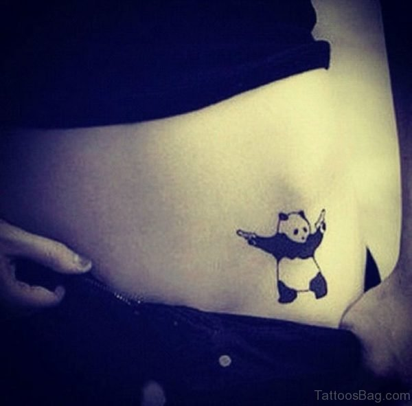 Panda Tattoo On waist