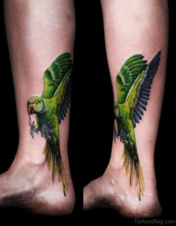 Parrot Tattoo On Ankle