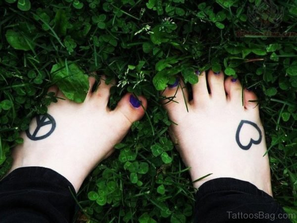 Peace And Heart Tattoo