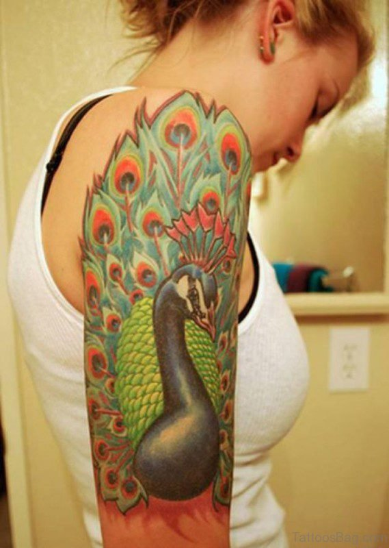 Peacock Shoulder Tattoo