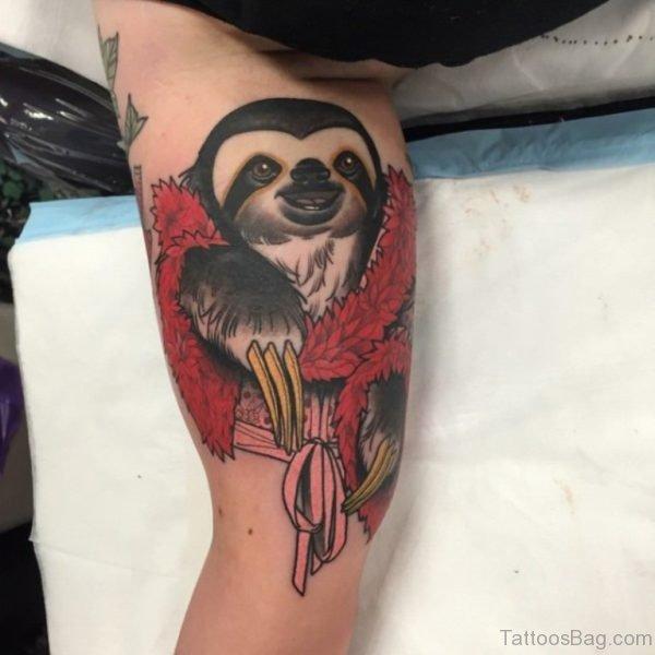 Penguin Tattoo On Leg TB1081