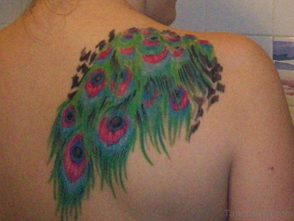 Peocock Feather Tattoo On design