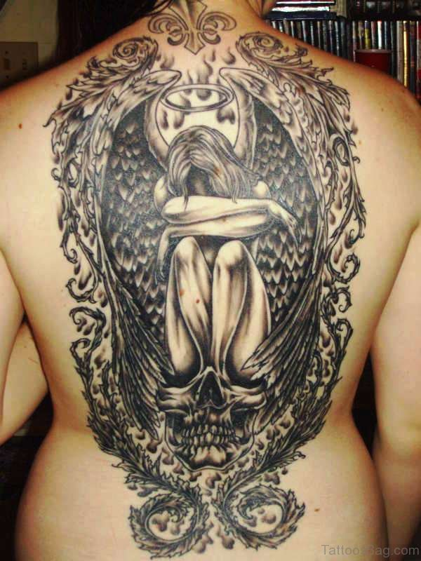 Perfect Archangel Tattoo On Back