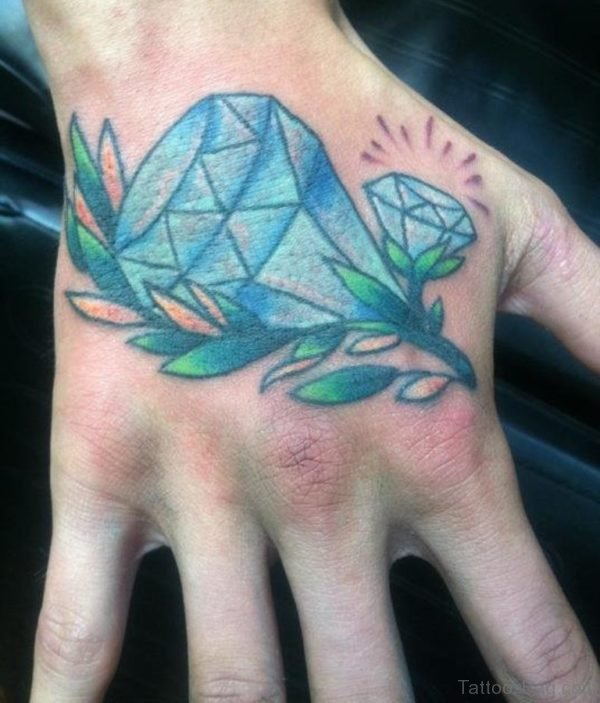 Perfect Diamond Tattoo On Hand