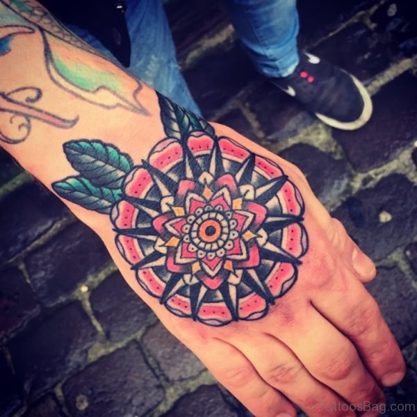 Perfect Mandala Tattoo On Hand