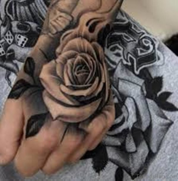 Perfect Rose Tattoo On Hand