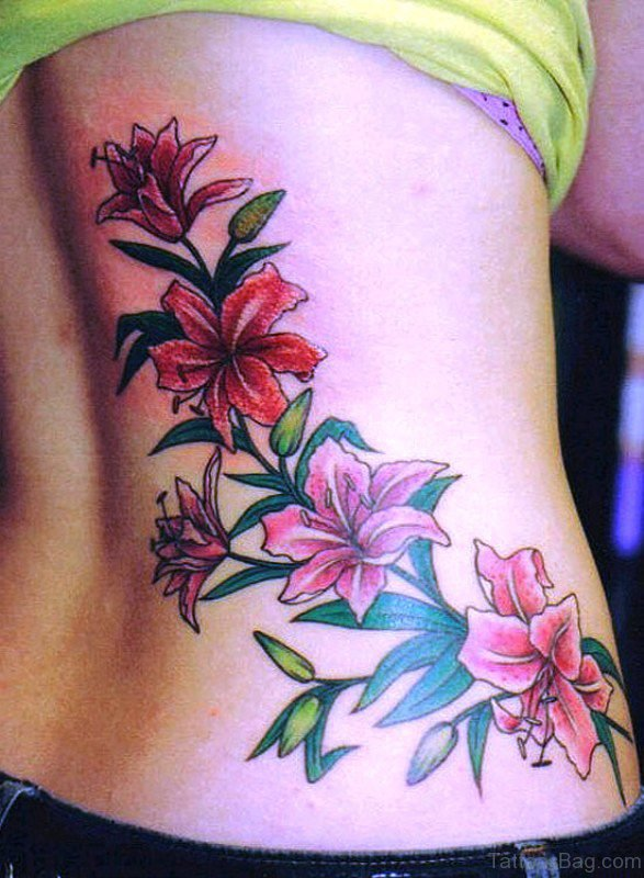 Perfect Vine Tattoo On Back
