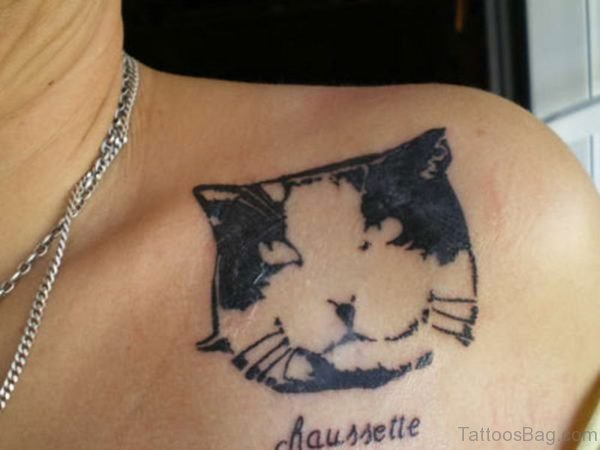 Pet Cat Shoulder Tattoo
