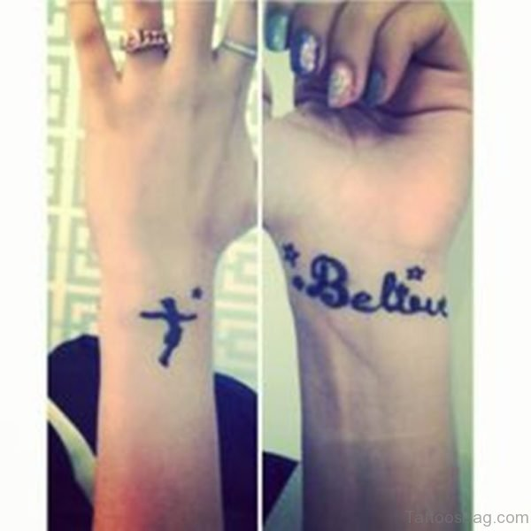 Peter Pan Wrist Tattoo