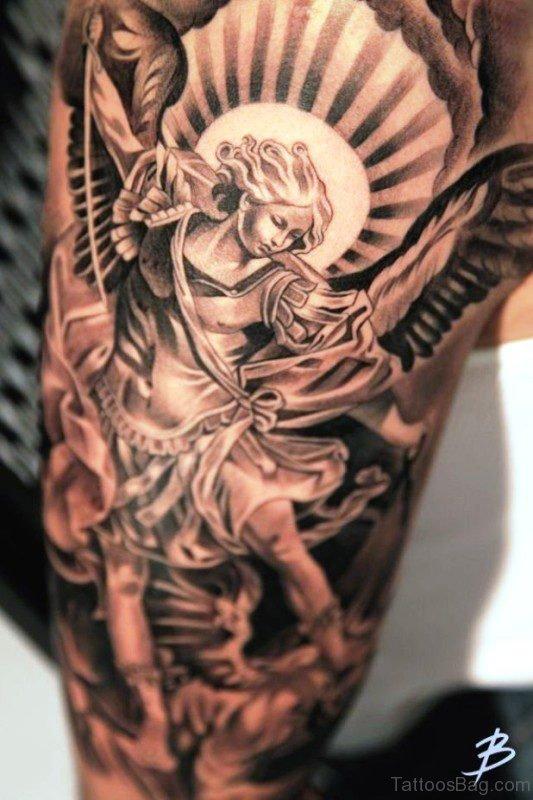 Phenomenal Archangel Tattoo On Shoulder