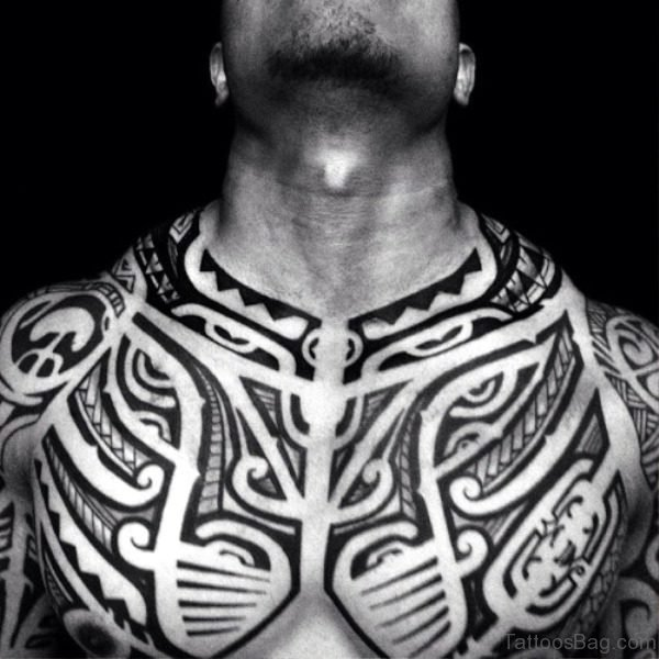 Phenomenal Black Tattoo On Chest