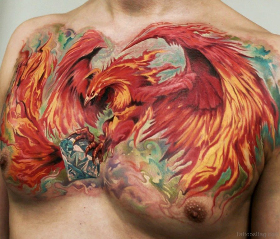 68 outstanding chest tattoos for Tattoo supply phoenix