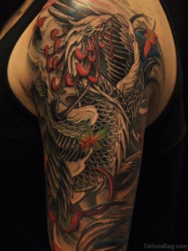 Phoenix Tattoo Design On Shoulder
