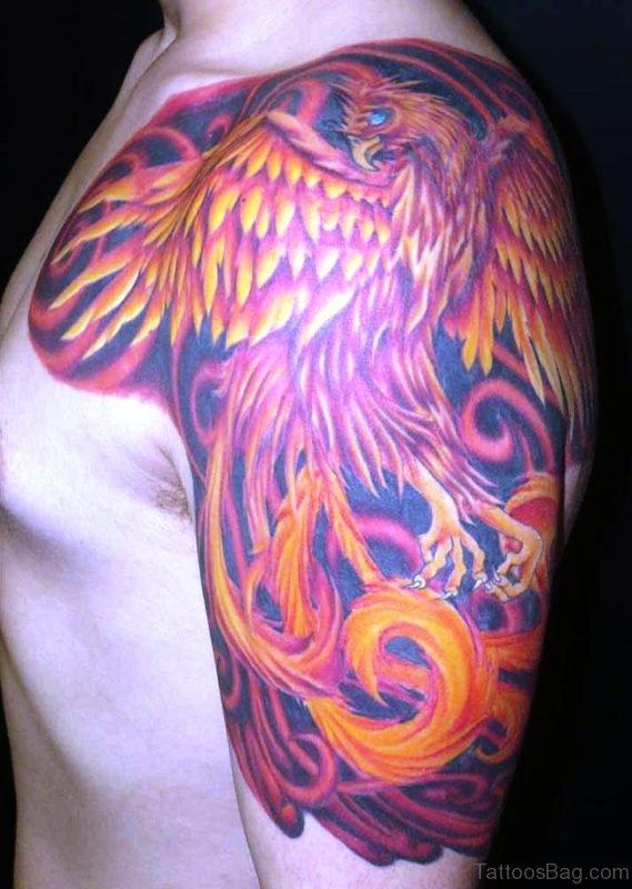 Phoenix Tattoo On Shoulder