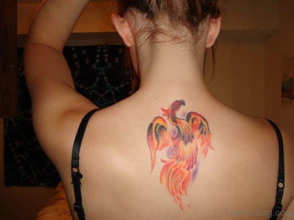 Phoenix Tattoo on Upper Back