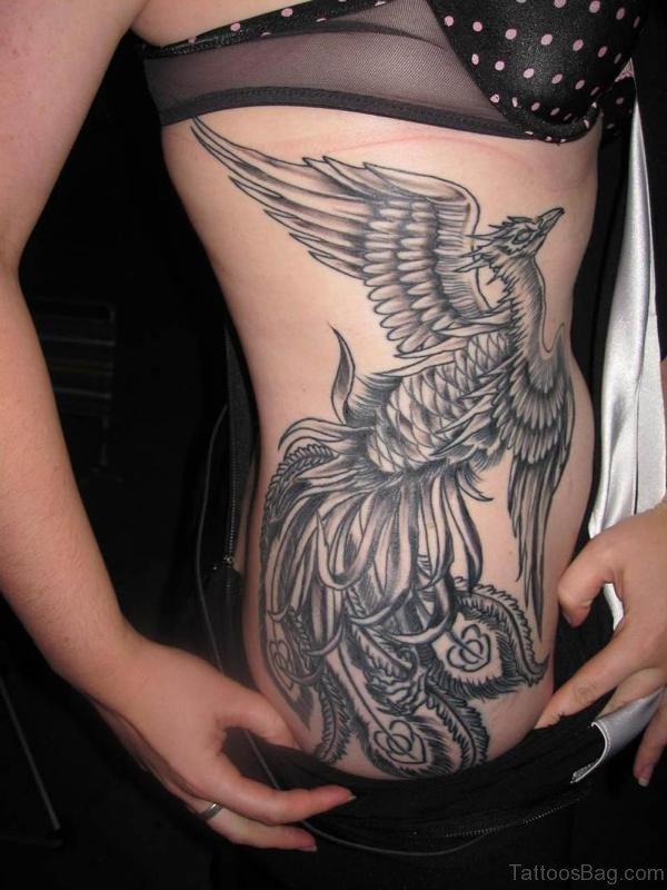 Phoenix Tattoo On Rib