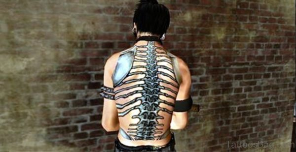 Photo Of Skeleton Tattoo On Back