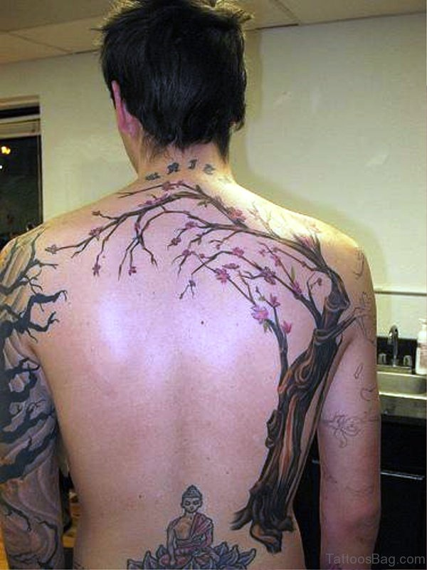 Photo Of Tree Tattoo On Back