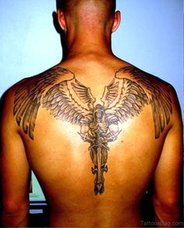 Pic Of Archangel Tattoo On Back