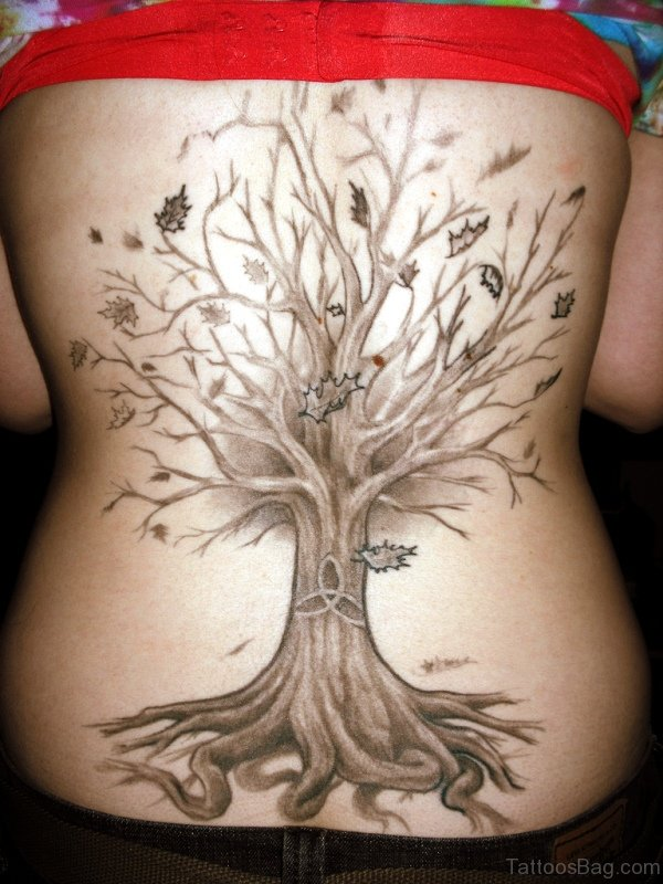 Pic Of Tree Tattoo On Back