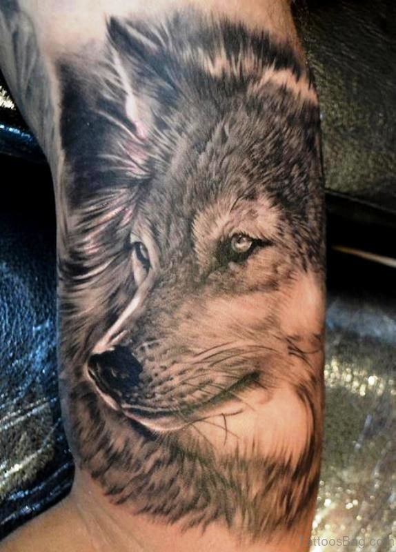Picture Of Alpha Wolf Tattoo