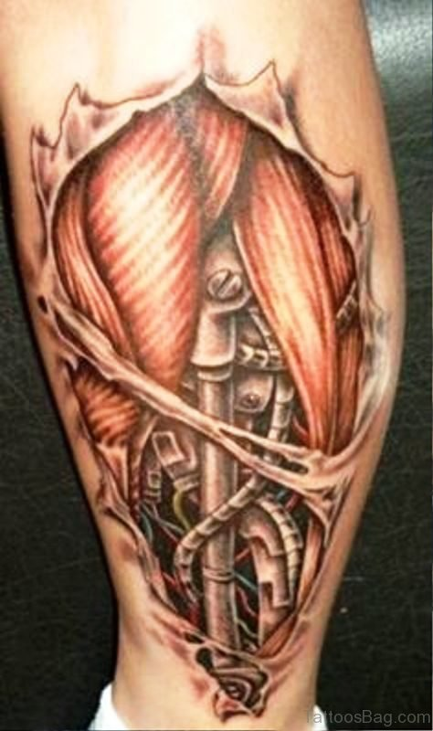 Picture Of Tattoo On Calf