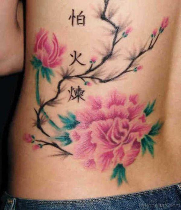 Pink Flower Tattoo
