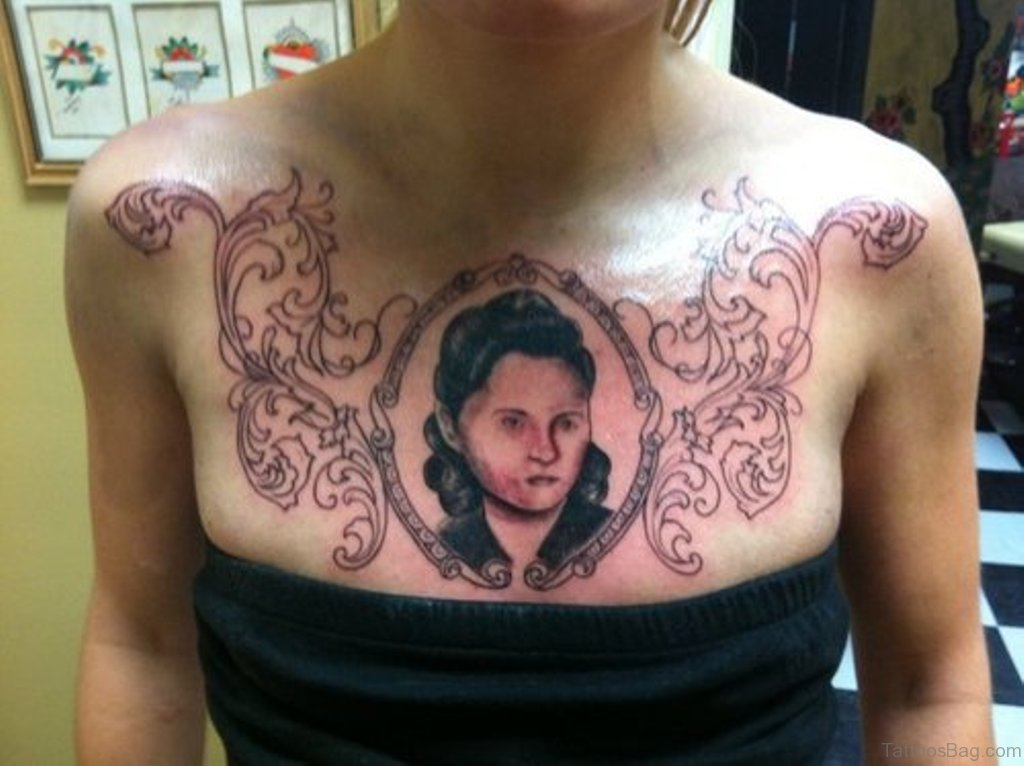 68 outstanding chest tattoos for Chest piece tattoos female