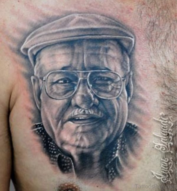 Portrait Tattoo On Chest