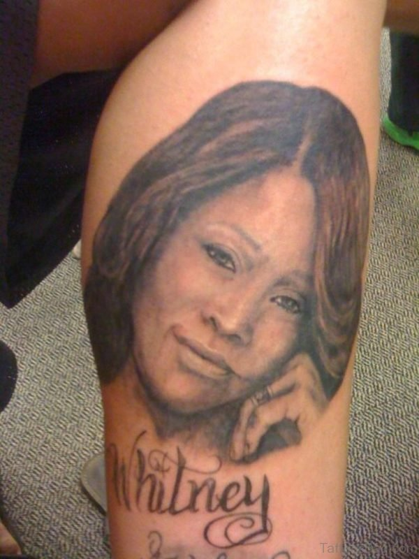 Portrait Tattoo On Leg