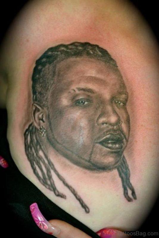 Portrait Tattoo On Waist