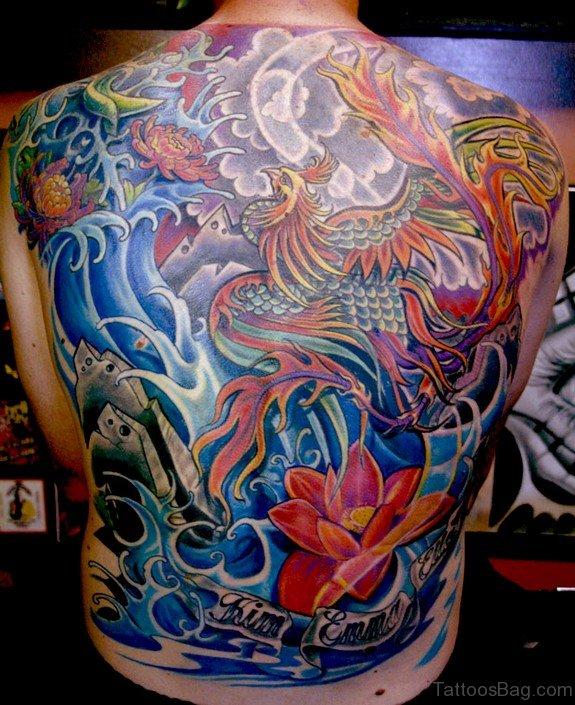 Powerful Dragon Tattoo on Back