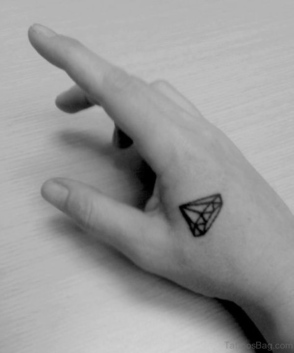 Pretty Diamond Tattoo On hand