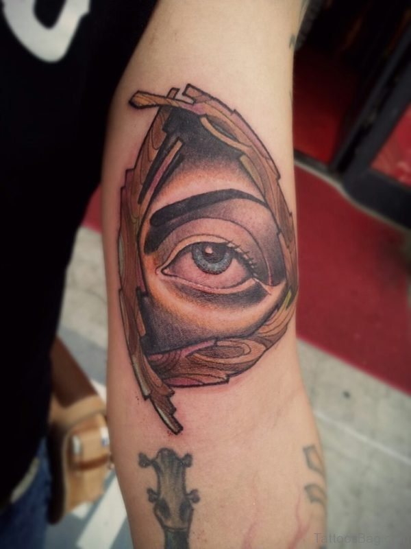 Pretty Eye Tattoo On Arm
