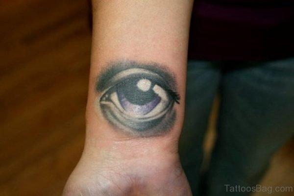 Pretty Eye Tattoo On Wrist