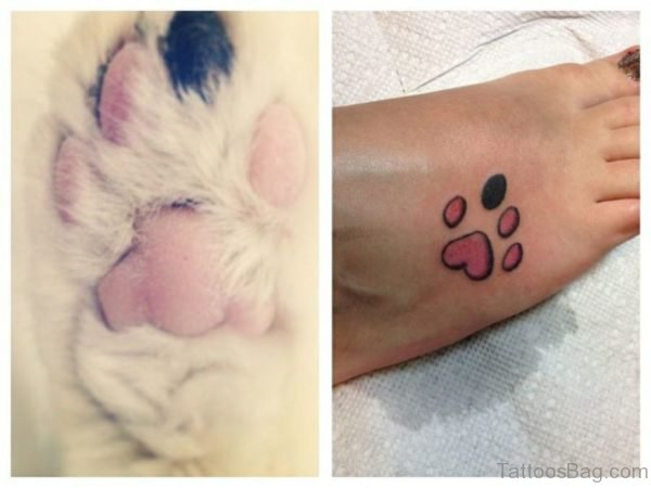 Pretty Paw Tattoo Design