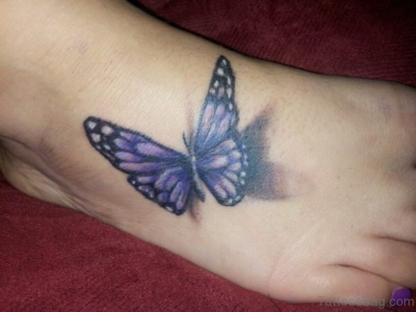 Purple Butterfly Tattoo Design