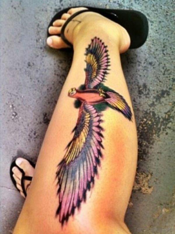 Purple Wing Tattoo