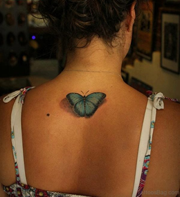 Realistic Butterfly Tattoo 1