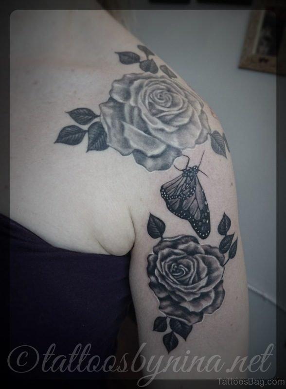 Realistic Roses Tattoo Design