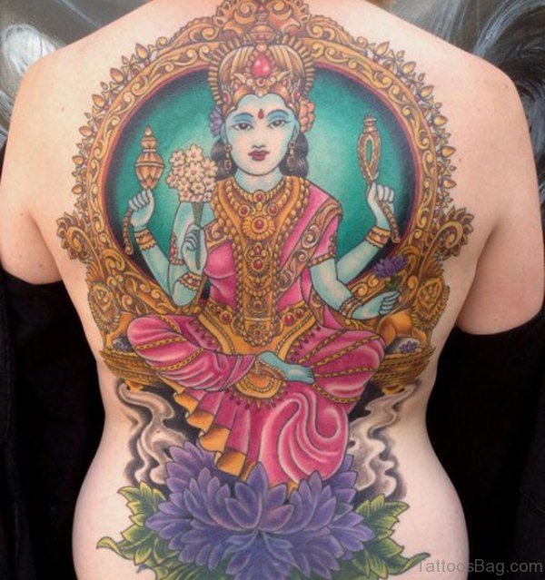 Religious Tattoo On Back