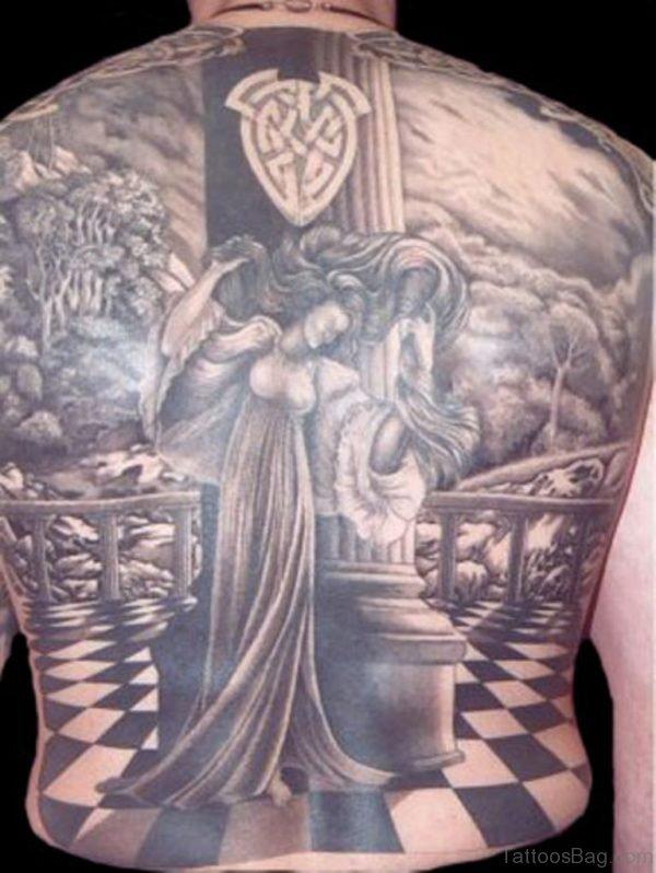 Religious Tattoo On Full Back