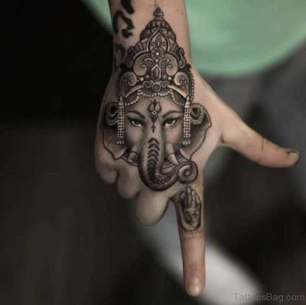 Religious Tattoo On Hand 1