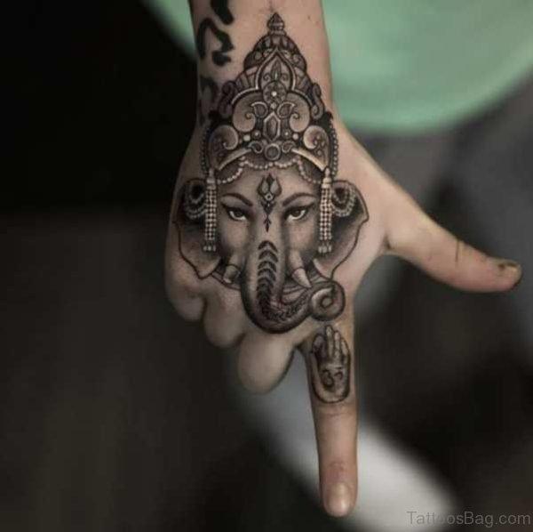 Religious Tattoo On Hand
