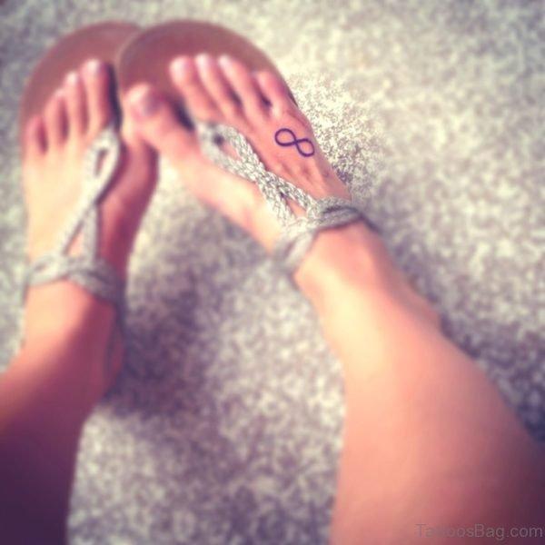 Right Foot Infinity Symbol Tattoo