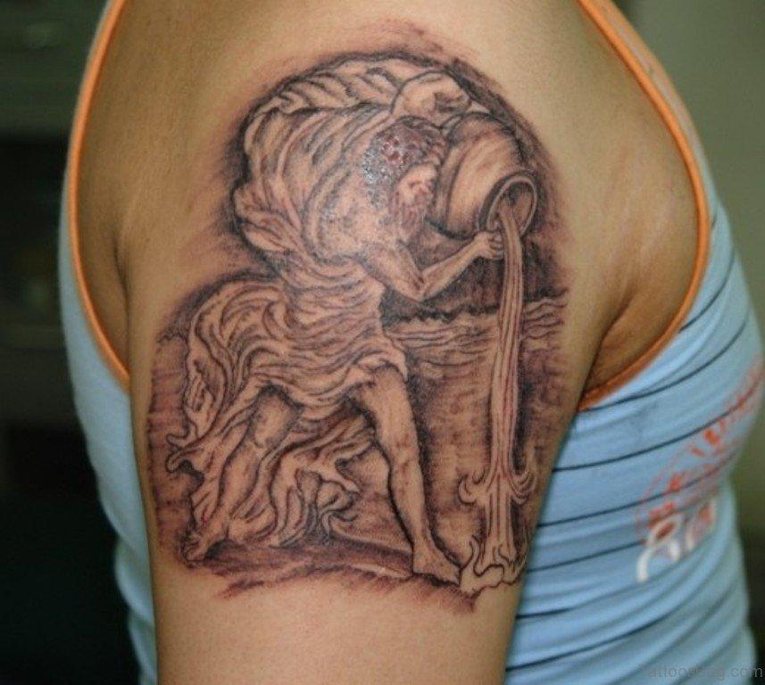 35 Aquarius Tattoos For Shoulder