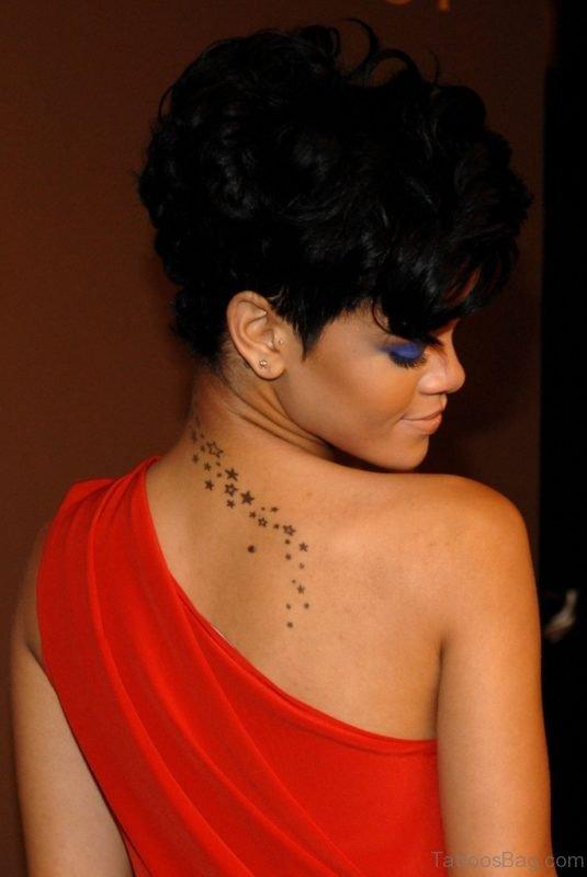 Rihanna nape star tattoo