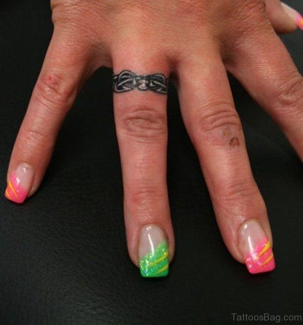 Ring Tattoo On Finger